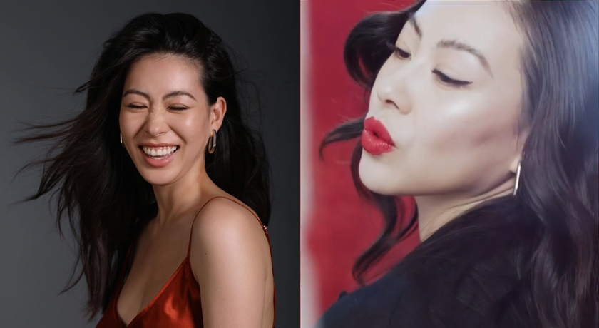(有片)蔡詩芸「搖滾紅唇」讓女兒不敢直視!自曝當媽後這點反差最大