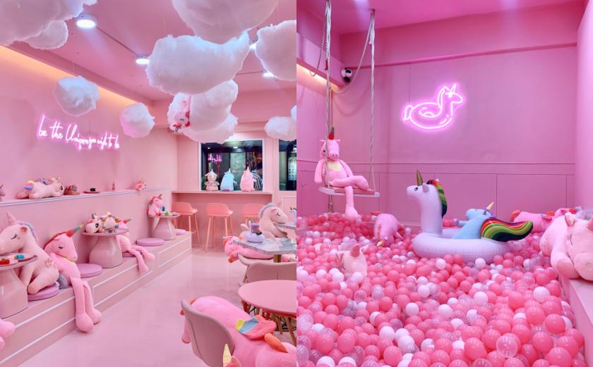 整間都是粉紅色!台北新開「獨角獸咖啡廳」夢幻場景拍爆記憶體