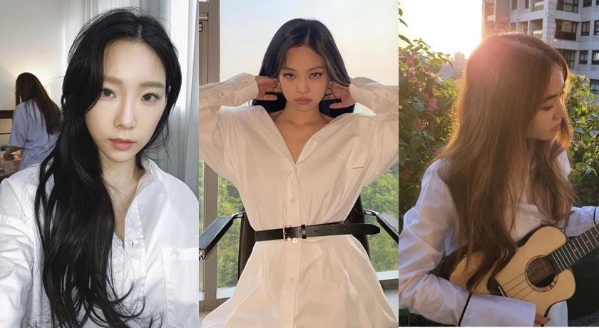 Jennie、蔡依林、太妍都狂愛「白襯衫」!她直接單穿腿根外洩