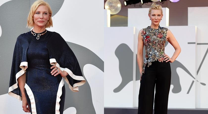 時尚圈沒衣服了?威尼斯影展流行舊衣新穿,精靈女王「回收」第一名!