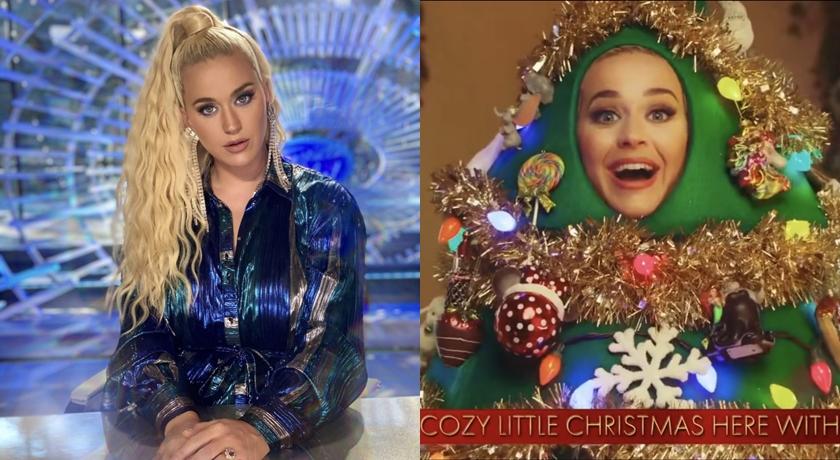 美國女歌手超狂!打扮成「人形耶誕樹」拍 MV 把粉絲逗樂了