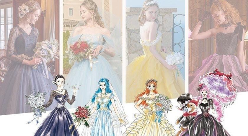 娜美、羅賓都換上夢幻婚紗!《航海王》推聯名婚紗卻像「迪士尼」?