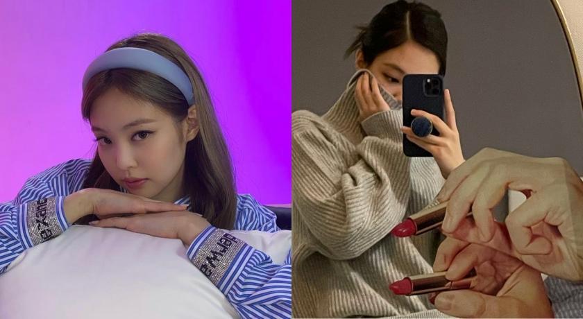 Jennie IG甜曬宅家生活照!鏡中倒影驚見「上下其手」?