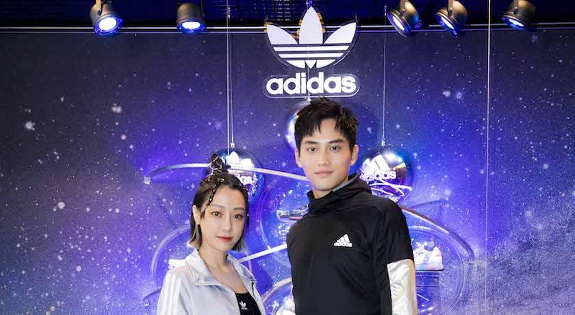 謝欣穎、范少勳搶先體驗「太空夢」!adidas打造太空耶誕快閃店
