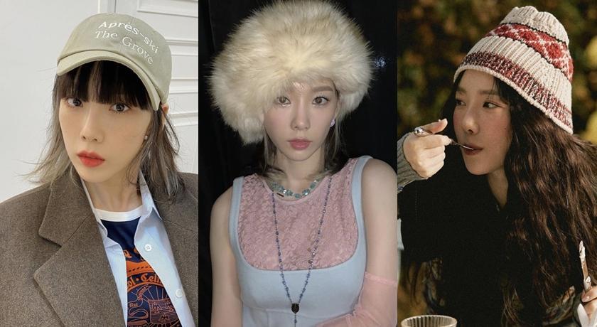 超誇張的皮草帽也完美駕馭!太妍被讚「適合戴帽子的女人」