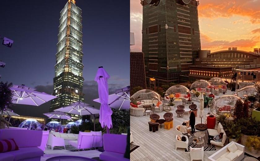 台北信義區「最美高空泡泡屋」坐擁101夜景!純白地中海派對聖地新開幕