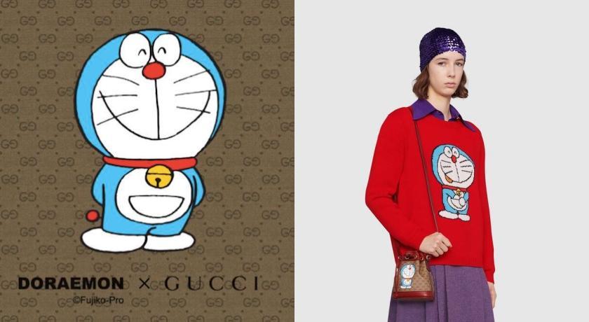 不只有迪士尼、北臉!Gucci聯名「哆啦A夢」驚喜上架