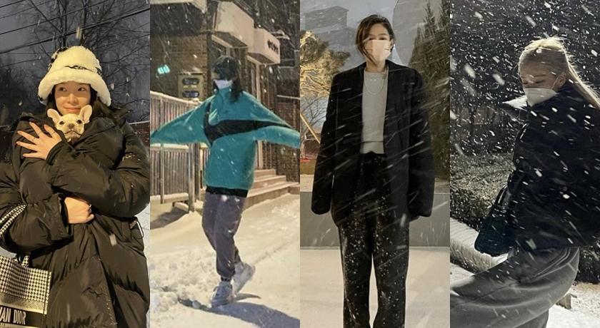 韓國下暴雪!朴信惠、Jennie、Rosé 分享「雪地美照」狂洗版