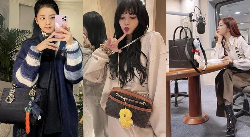 名牌包上掛著「絨毛吊飾」韓國正流行!高冷女星瞬間變好萌
