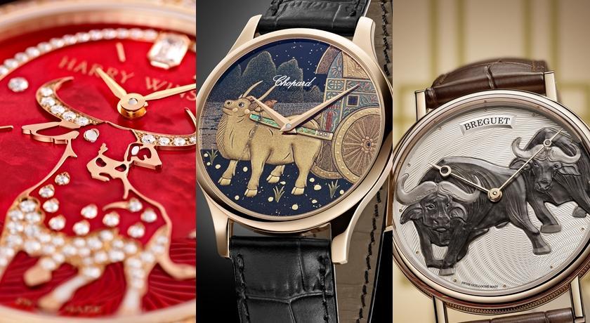 胖胖的水牛竟然在手錶上耕田!「牛年限定腕錶」看起來好萌