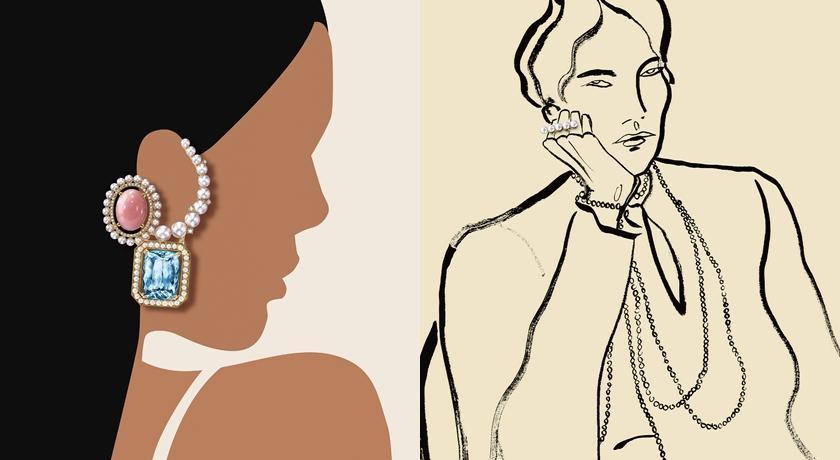 被狂讚為「史上最酷廣告」!前衛畫作結合珠寶竟毫無違和感