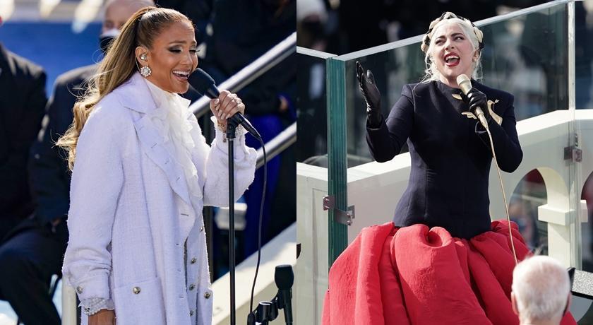 拜登就職 Gaga 戴巨型鴿子胸針!翹臀珍高喊西班牙文掀轟動