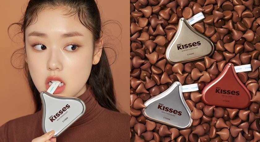連味道都仿真!HERSHEY'S KISSES 巧克力變身彩妝太可口