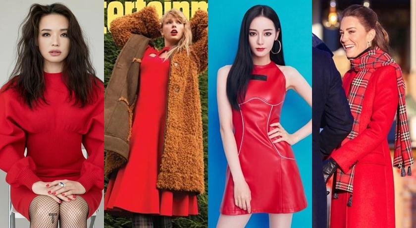 女星都愛「喜氣紅洋裝」!凱特王妃好典雅、蔡依林走火辣路線