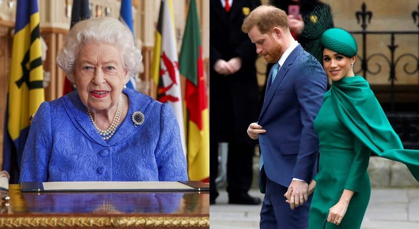 別有目的?哈利梅根專訪播出同日 英女王、凱特穿「皇室藍」現身