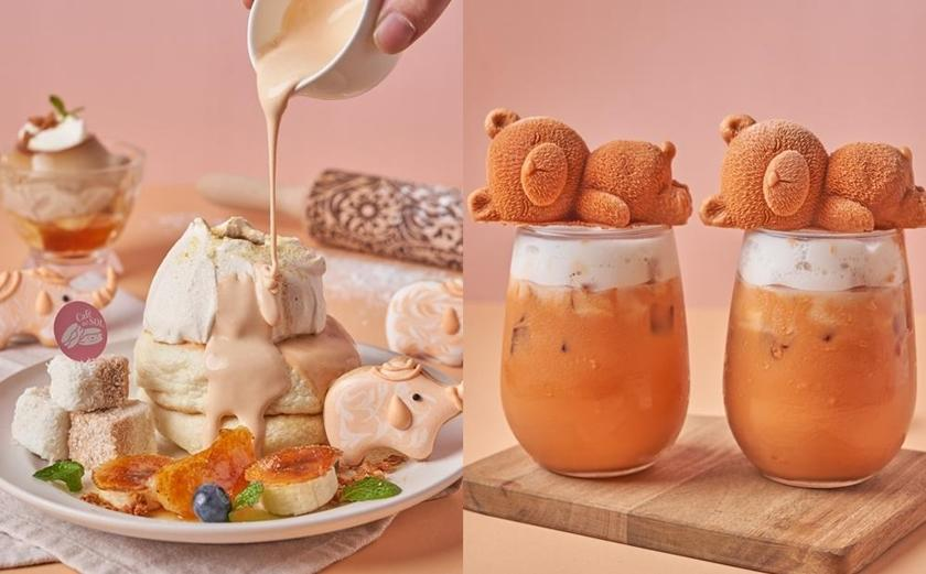 超萌「熊熊奶茶」融化少女心!福岡人氣鬆餅必吃新品泰奶舒芙蕾