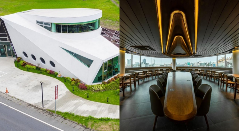 全台首間「遊艇星巴克」在宜蘭!純白色建築+金屬弧形吧台入夜更夢幻