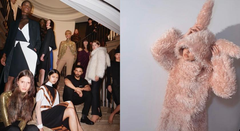 Burberry大秀明星搶助陣!超模「沒收到Dress Code」獨穿兔兔衣裝可愛?