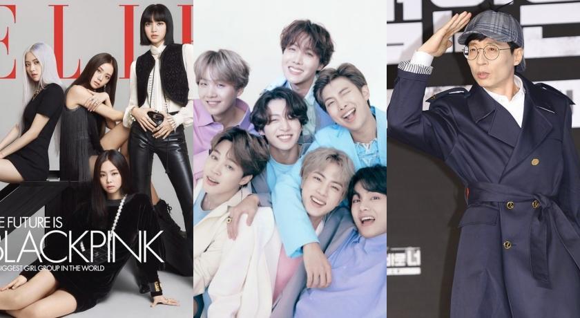 韓國富比世名人榜公開!BTS、BLACKPINK爭冠、劉在錫排名大暴走