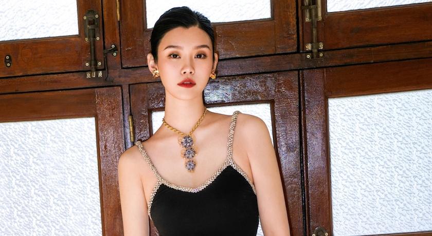賭王媳奚夢瑤挺孕肚跑趴!「低胸貼身禮服」真實身材驚呆網友