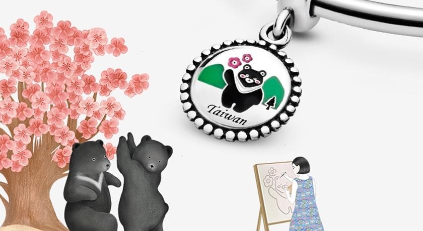 圓圓胖胖「台灣黑熊」變手鍊吊飾!臉上還有粉色腮紅超萌