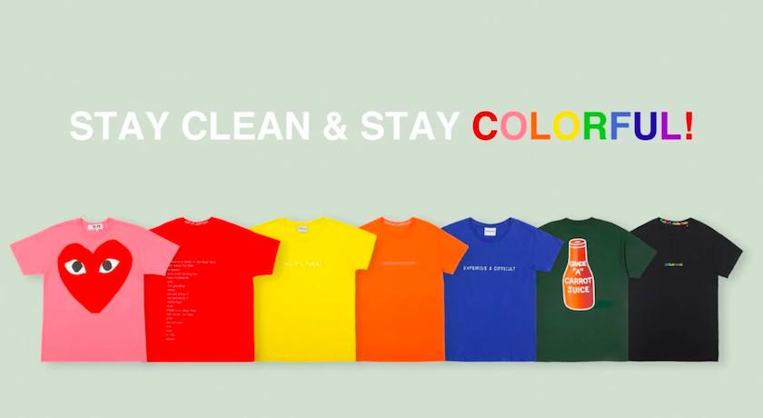 夏季必備基本款!七彩T-Shirt每天都穿上好心情