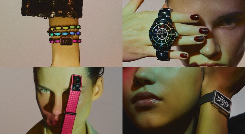絢爛「七彩霓虹」爬滿手錶!看著指針轉動好像聽見超嗨電音