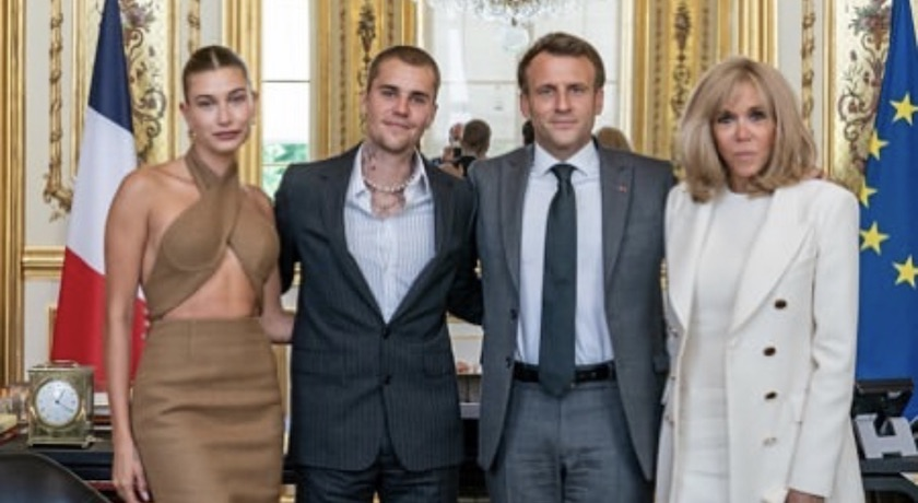 小賈斯汀牽辣妻見法國總統夫婦!「這樣穿」被網友狂轟太隨便