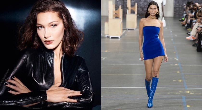 辣模Bella Hadid穿「超短連身裙」走秀!邊走邊拉裙險走光