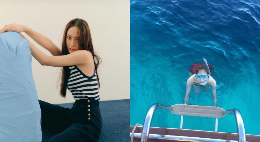 Krystal罕見穿比基尼出鏡!海島度假美照網狂讚:人間美人魚