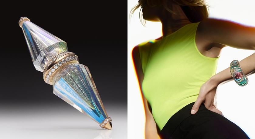 珠寶圈新科技!高溫蒸發「貴金屬」附著在水晶上沒想到這麼美