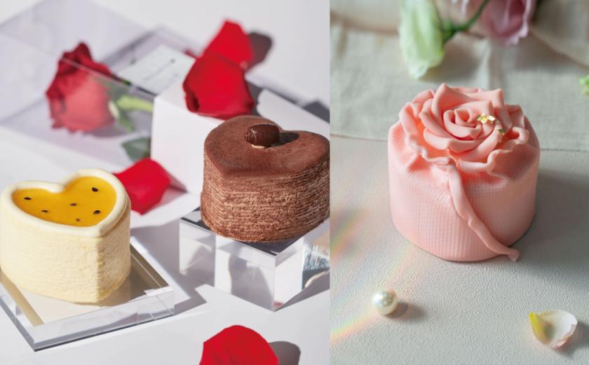 七夕情人節甜點搶先預訂!「心型千層、粉紅玫瑰蛋糕」造型超夢幻