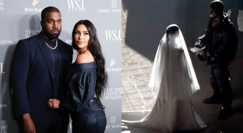 離婚半年只為炒話題?「翹臀金」披婚紗與肯爺重演求婚場景