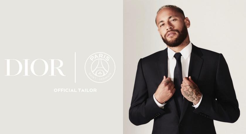 內馬爾帥穿西裝亮相!Dior首合作巴黎聖日耳曼打造球隊造型