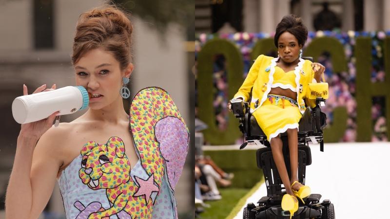 比滿場超模還搶鏡!腦麻女孩坐輪椅首登MOSCHINO伸展台