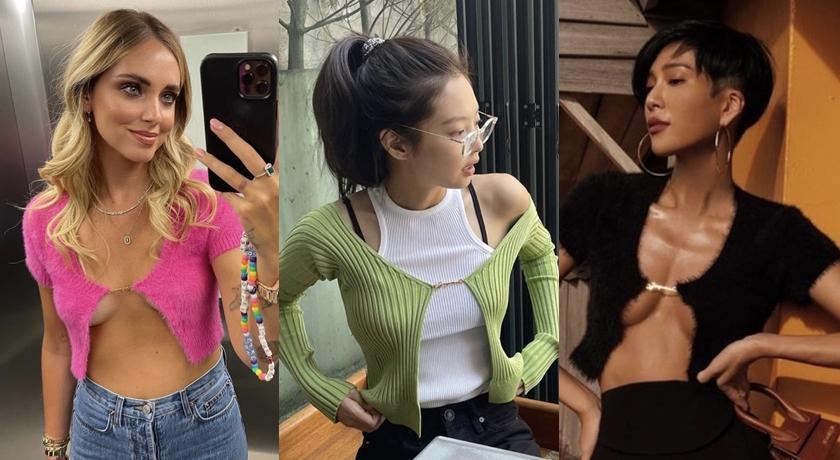 沒在怕撞衫!Jennie、人氣網紅搶穿「爆乳針織衫」半球狂炸