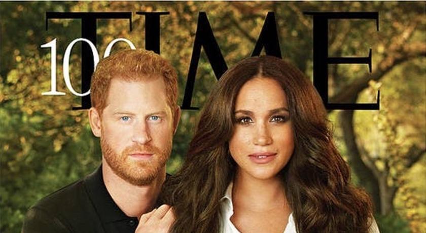 哈利夫妻登《時代雜誌》!外媒:梅根「闊腿姿勢」為表現權力