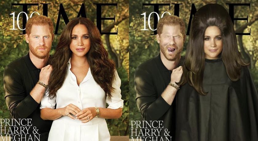 哈利梅根登《時代雜誌》被狂 P!變身「搞笑美容院」網笑噴