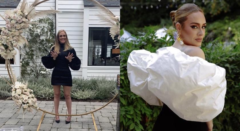 愛黛兒「大露胸前深溝」出席朋友婚禮!網友笑:來踩場的吧