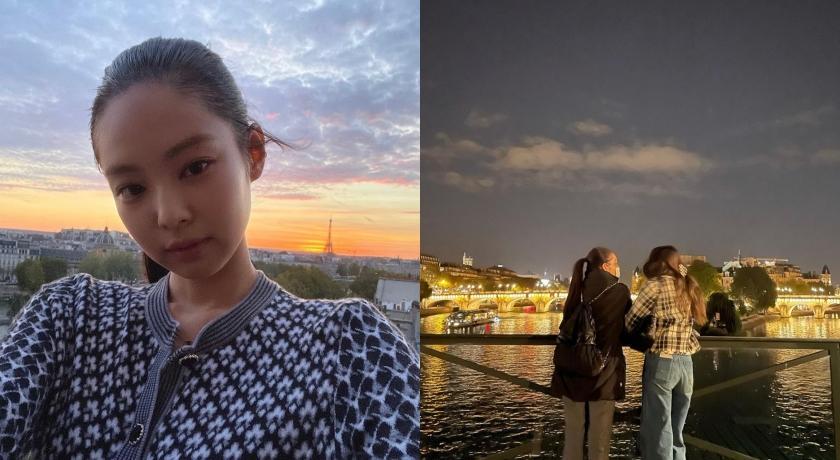 Jennie到巴黎看秀前「急著先約會」!大街上手勾手竟沒人認得出?
