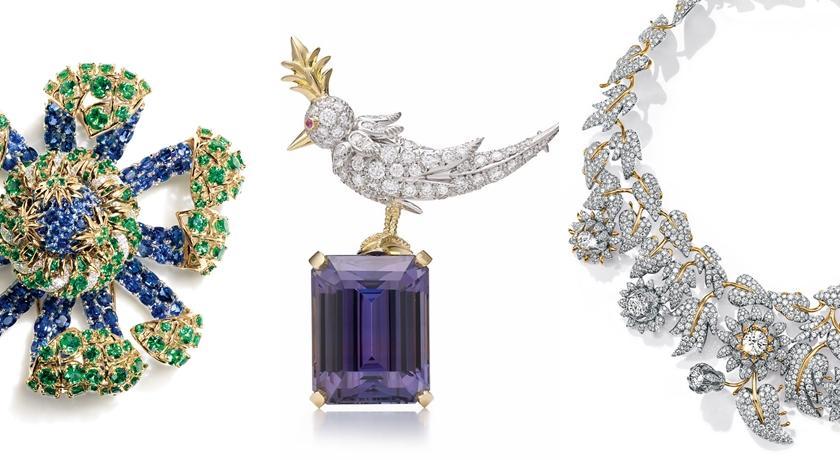 鑽石薊花項鍊、藍寶石海葵胸針!Tiffany 打造超夢幻珠寶樂園