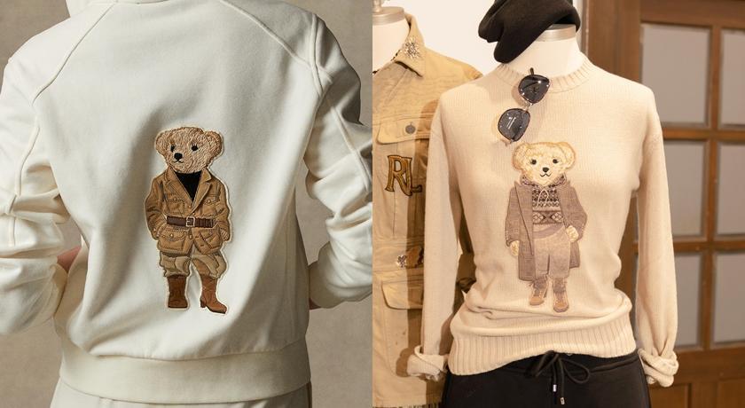 Ralph Lauren 熊熊「連換三造型」!女生熊還有睫毛超可愛