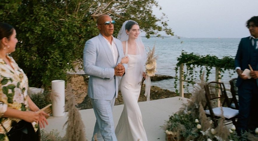 保羅沃克愛女穿訂製婚紗出嫁!馮迪索「代父職」陪走紅毯成最美畫面