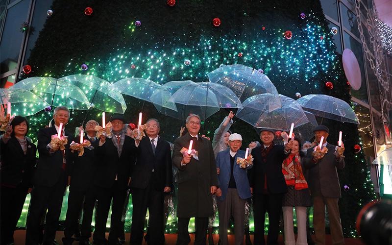 台新金控聖誕點燈 傳遞愛與祝福