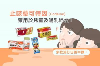 Medpartner》止咳藥可待因(Codeine)禁用於兒童及哺乳婦女,多款流行日藥中鏢!