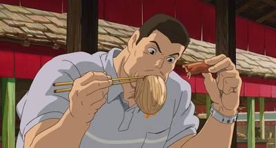 韋恩的食農生活》千尋老爸變成豬的原因是吃了禁忌的腔棘魚?!
