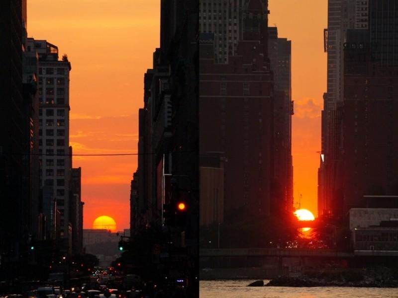 紐約地途》鋼筋水泥峽谷中的夕陽:曼哈頓懸日