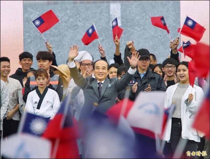 前立法院長王金平7日舉行「參選2020總統大會」,正式宣布參選2020總統。(記者方賓照攝)