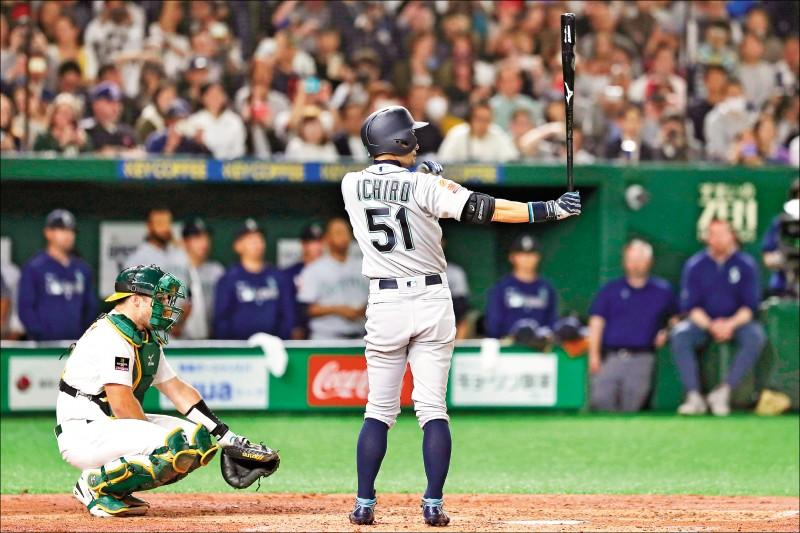 日本旅美球星鈴木一朗在東京宣布引退。(歐新社)