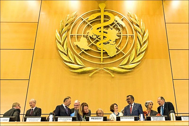 每年五月台灣的衛生界都動員國內外關係及資源來尋求參加世界衛生組織的世界衛生大會。(歐新社檔案照)